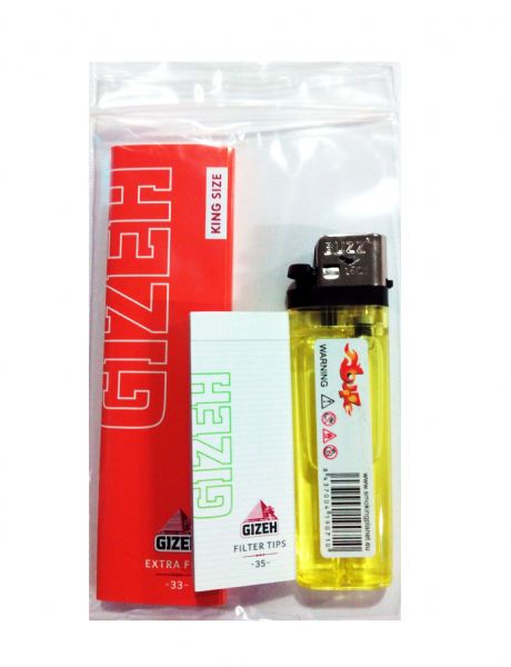 Gizeh slim king size fliltro tips mechero