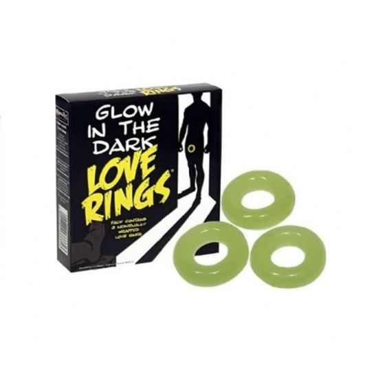 Love Rings pack 3 anillos fluorescentes