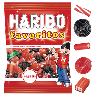 Bolsita haribo favorito red mix 90 gramos
