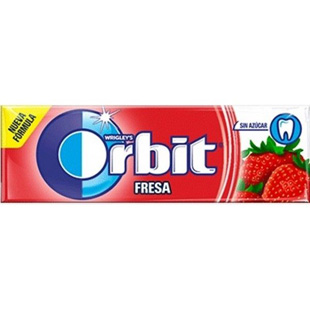 Orbit Fresa 10 chicles sin azúcar