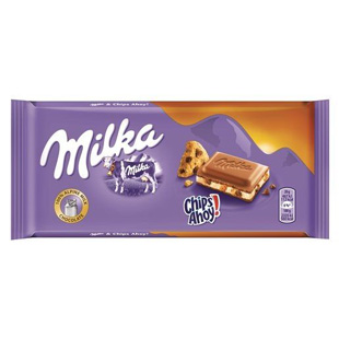 Tableta Milka chips ahoy 100gr.