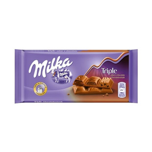 Tableta Milka triple chocolate 90g