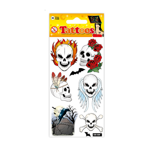Tattoo Cool Skulls 19cm X 9cm